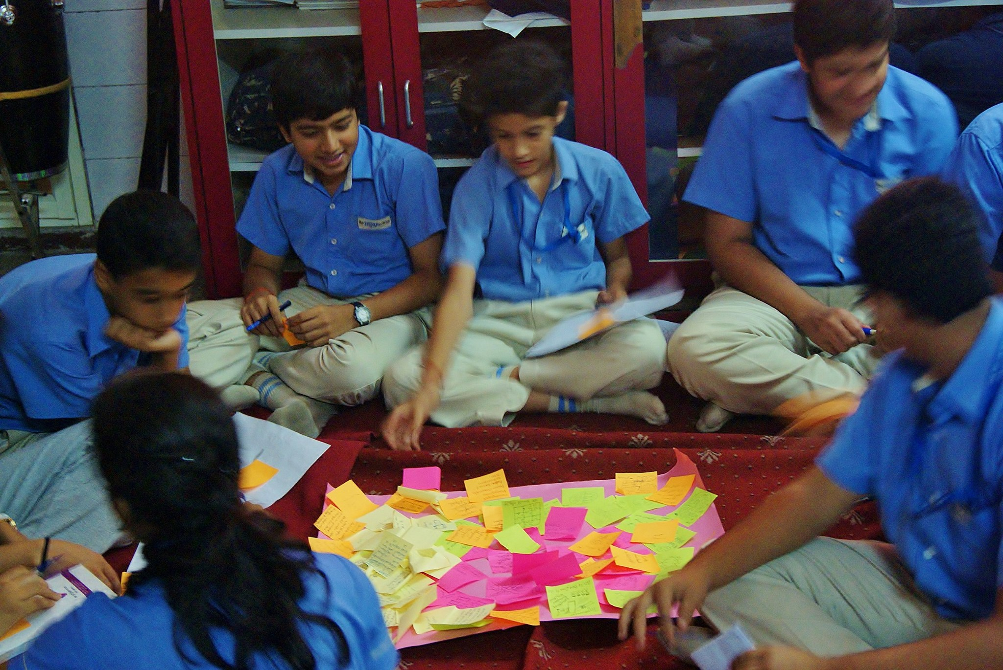 Srijan School students participate in an interactive workshop